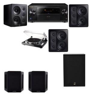 M&K Sound S300 Monitor Speaker 5.1 Thorens TD-240-2 X12 Pioneer Elite SC-89