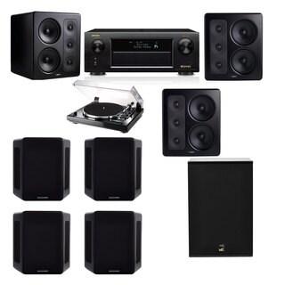 M&K Sound S300 Monitor Speaker 7.1 Thorens TD-240-2 X12 Denon AVR-X5200W
