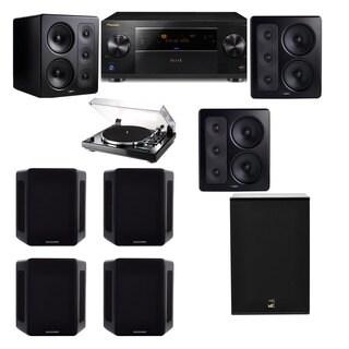 M&K Sound S300 Monitor Speaker 7.1 Thorens TD-240-2 X12 Pioneer Elite SC-89