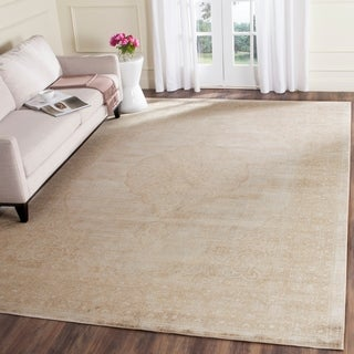 Safavieh Vintage Oriental Cream Distressed Silky Viscose Rug (5'1 x 7'6)