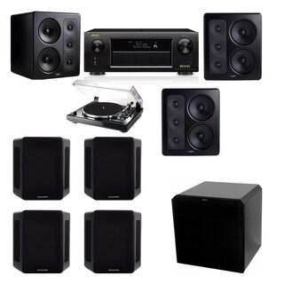 M&K Sound S300 Monitor Speaker 7.1 Thorens TD-240-2 HRS12 Denon AVR-X5200W