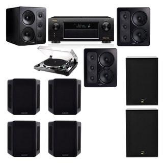 M&K Sound S300 Monitor Speaker 7.2 Thorens TD-240-2 X12 Denon AVR-X5200W