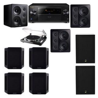 M&K Sound S300 Monitor Speaker 7.2 Thorens TD-240-2 X12 Pioneer Elite SC-89