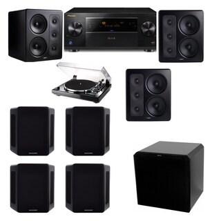 M&K Sound S300 Monitor Speaker 7.1 Thorens TD-240-2 HRS12 Pioneer Elite SC-89
