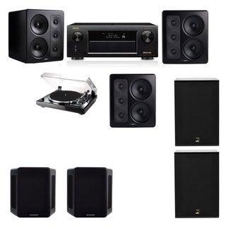 M&K Sound S300 Monitor Speaker 5.2 Thorens TD-240-2 X12 Denon AVR-X5200W