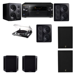 M&K Sound S300 Monitor Speaker 5.2 Thorens TD-240-2 X12 Pioneer Elite SC-89