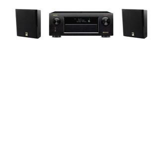 M&K Sound MP150II Wall Mounted Loudspeaker 2.0 Denon AVR-X5200W