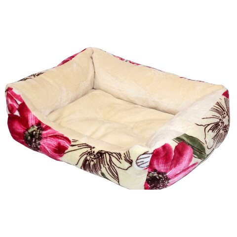 Pet Soft Things Classic Printed Flannel Pet Bed