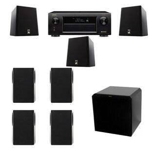 M&K Sound S150II Loudspeaker 7.1 HRS12 Denon AVR-X5200W