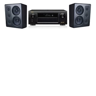 M&K Sound MP300 Monitor Speaker 2.0 Denon AVR-X5200W