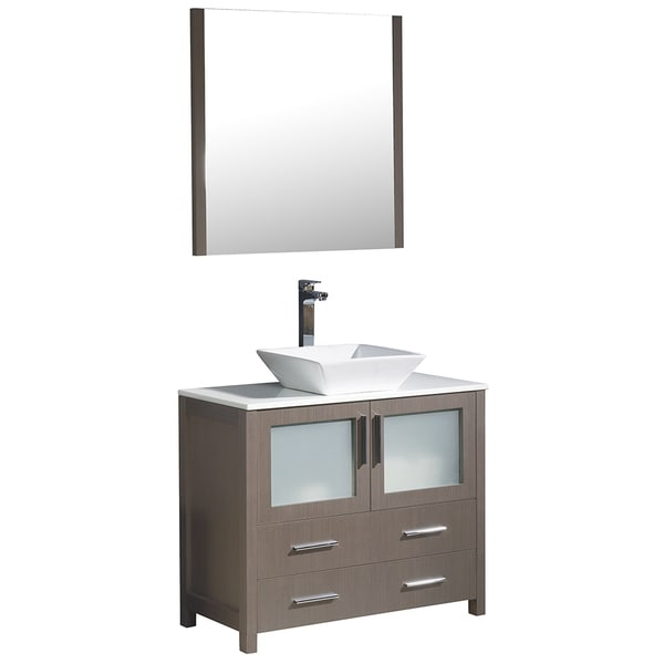 Fresca torino 36 inch espresso modern bathroom vanity with vessel sink free shipping today for 36 inch espresso bathroom vanity