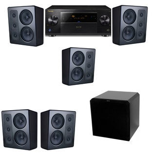 M&K Sound MP300 Monitor Speaker 5.1 HRS12 Pioneer Elite SC-89