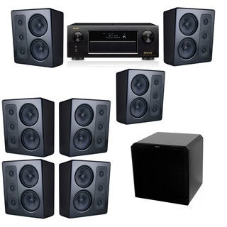 M&K Sound MP300 Monitor Speaker 7.1 HRS12 Denon AVR-X5200W