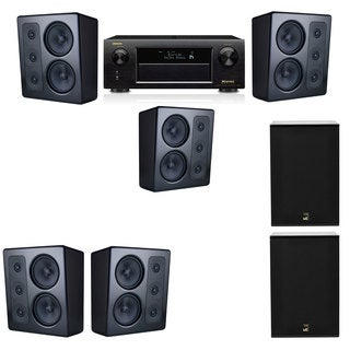 M&K Sound MP300 Monitor Speaker 5.2 X12 Denon AVR-X5200W