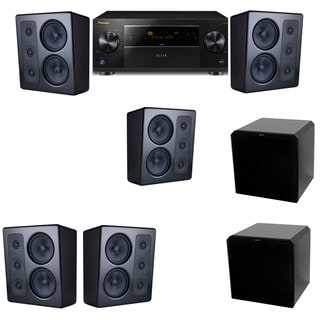 M&K Sound MP300 Monitor Speaker 5.2 HRS12 Pioneer Elite SC-89