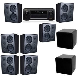 M&K Sound MP300 Monitor Speaker 7.2 HRS12 Denon AVR-X5200W