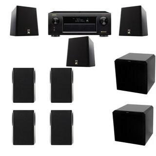 M&K Sound S150II Loudspeaker 7.2 HRS12 Denon AVR-X5200W