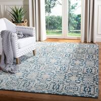 Safavieh Sofia Vintage Damask Blue/ Beige Distressed Rug - 5'1 x 7'7