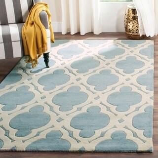 Safavieh Handmade Chatham Blue/ Ivory Wool Rug (8' x 10')