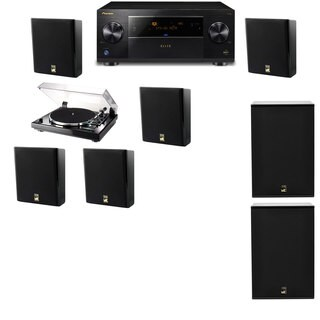 M&K Sound MP150II Wall Speaker 5.2 Thorens TD-240-2 X12 Pioneer Elite SC-89