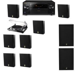 M&K Sound MP150II Wall Speaker 7.2 Thorens TD-240-2 X12 Pioneer Elite SC-89
