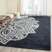 Safavieh Handmade Allure Grey/ Ivory Mandala Wool Rug - 8' x 10'