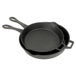 Bayou Classic 2-Piece Cast Iron Skillet Set