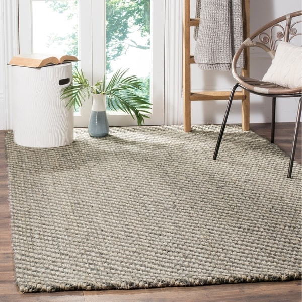 Safavieh Casual Natural Fiber Handmade Natural / Grey Jute Rug - 8' x 10'