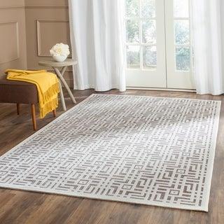 Safavieh Paradise Modern Ivory/ Dark Grey Viscose Rug (5'1 x 7'6)