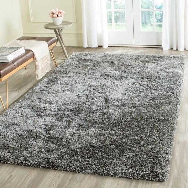 Safavieh Handmade South Beach Steel Grey Polyester Rug - 8' x 10'