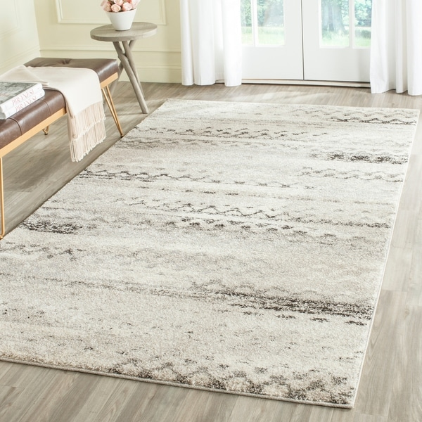 Shop Safavieh Retro Modern Abstract Cream Grey Distressed