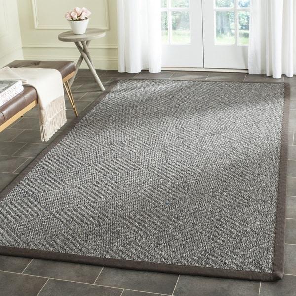 Safavieh Casual Natural Fiber Hand-Woven Grey / Dark Grey Sisal Rug (8' x 10')