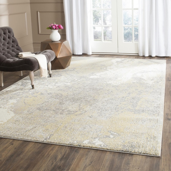 Safavieh Monaco Modern Abstract Ivory / Grey Distressed Rug - 8' x 11'