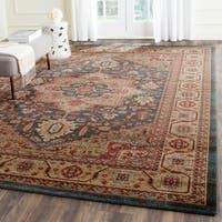 Safavieh Mahal Traditional Grandeur Navy/ Natural Rug - 8' x 11'