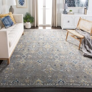 Safavieh Evoke Vintage Dark Grey / Yellow Distressed Rug (8' x 10')