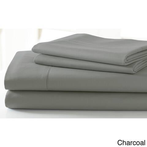 Amraupur Overseas 600 Thread Count Cotton Rich 4-Piece Sheet Set