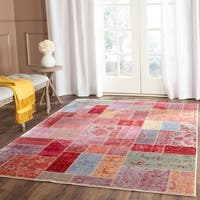 Safavieh Valencia Multi Patchwork Distressed Silky Polyester Rug - 5' x 8'