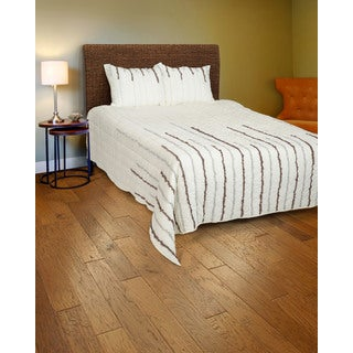 Rizzy Home Grey and Light Grey 3-piece Quilt Set