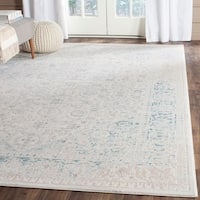 Safavieh Passion Watercolor Vintage Turquoise/ Ivory Distressed Rug - 5'1 x 7'7