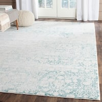 Safavieh Passion Vintage Wash Turquoise/ Ivory Distressed Rug (5'1 x 7'7)