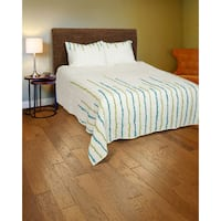 Rizzy Home Teal and Green 3-piece Quilt Set