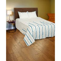 Rizzy Home Blue and Grey Quilt Set