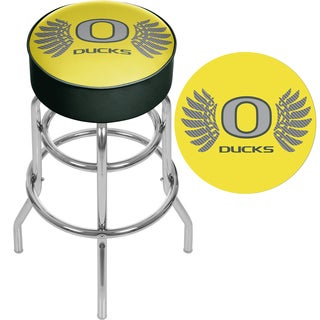 University of Oregon Chrome Bar Stool with Swivel - Wings