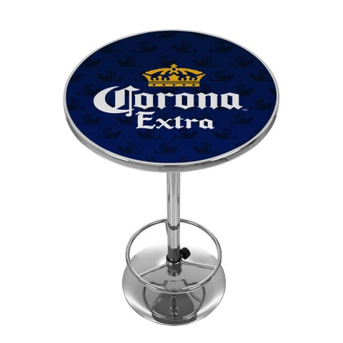 Corona Chrome Pub Table - Griffin
