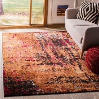 Safavieh Monaco Abstract Multicolored Distressed Rug (5'1 x 7'7)