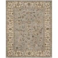 Safavieh Handmade Heritage Timeless Traditional Beige/ Grey Wool Rug - 4' x 6'