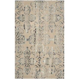 Safavieh Handmade Dip Dye Watercolor Vintage Camel/ Grey Wool Rug (5' x 8')