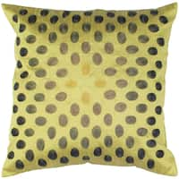 Rizzy Home Green Square Pillow Cover