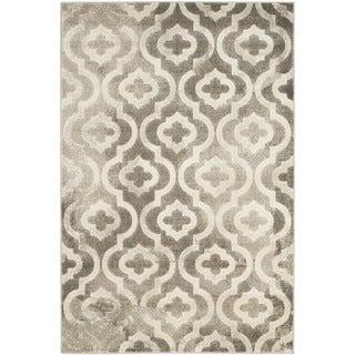 Safavieh Porcello Contemporary Moroccan Grey/ Ivory Rug (4'1 x 6')