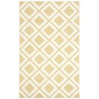 Safavieh Handmade Chatham Gold/ Ivory Wool Rug (5' x 8')